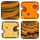Verschillende Materialen en Texturen voor Spel vector illustratie