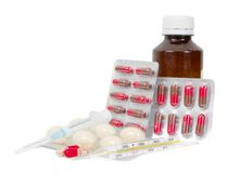 Verschillende medische goederen Royalty-vrije Stock Foto's