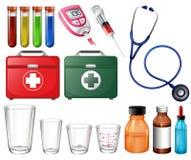 Verschillende medische reeksen royalty-vrije illustratie