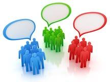 Verschillende meningen van mensengroep. stock illustratie