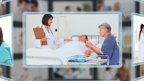 Verschillende mensen die medische problemen hebben stock videobeelden