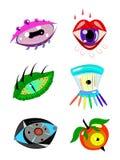 Verschillende multi-colored ogen. Stock Foto's