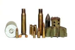 Verschillende munitie Stock Afbeeldingen