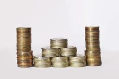 Verschillende muntstukken Stock Foto