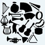 Verschillende muziekinstrumenten royalty-vrije illustratie