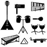 Verschillende muzikale instrumenten Stock Foto