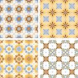 Verschillende naadloze geometrische samenstelling vier Stock Foto's