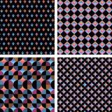 Verschillende naadloze geometrische samenstelling vier Royalty-vrije Stock Foto's