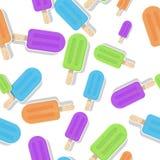 Verschillende naadloze het patroonillustratie van de kleurenijslolly vector illustratie
