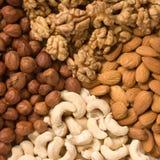 Verschillende noten (almons, cashe Royalty-vrije Stock Afbeelding