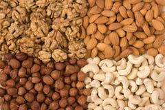 Verschillende noten (almons, cashe Royalty-vrije Stock Afbeeldingen