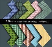10 verschillende patronen naadloze vector Stock Foto's