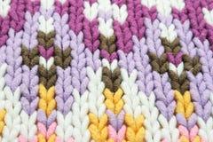 Verschillende patronen op sweater Stock Foto's
