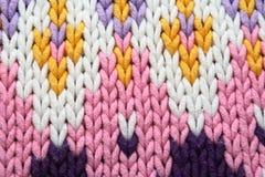 Verschillende patronen op sweater Royalty-vrije Stock Afbeelding