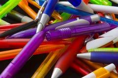 Verschillende pennen stock afbeeldingen