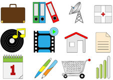 Verschillende pictogrammen Stock Foto's
