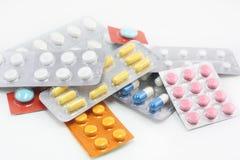 Verschillende pillen Royalty-vrije Stock Afbeeldingen