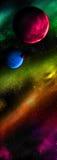 Verschillende planeten in kosmische ruimte royalty-vrije illustratie