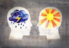 Verschillende psychesmensen stock illustratie
