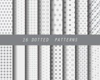 16 verschillende puntpatronen vector illustratie