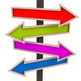Verschillende richtingen Stock Foto's