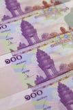 Verschillende Riels van Kambodja bankbiljetten Royalty-vrije Stock Foto's