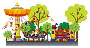 Verschillende ritten in Carnaval royalty-vrije illustratie