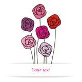 Verschillende rozen Vector Illustratie
