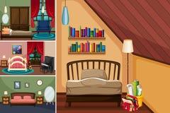 Verschillende ruimten in het huis Stock Fotografie