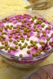 Verschillende salades op een feestelijke lijst Royalty-vrije Stock Afbeelding