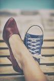 verschillende schoenen royalty-vrije stock afbeeldingen