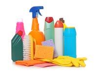 Verschillende schoonmakende levering Stock Foto