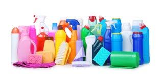 Verschillende schoonmakende levering Stock Fotografie