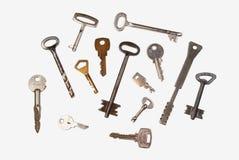 Verschillende sleutels Royalty-vrije Stock Afbeeldingen