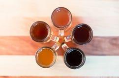 verschillende soorten bier Royalty-vrije Stock Foto's