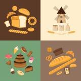 Verschillende soorten brood Royalty-vrije Stock Afbeeldingen