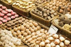 Verschillende soorten chocolade Royalty-vrije Stock Foto