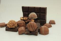 Verschillende soorten chocolade Royalty-vrije Stock Afbeelding