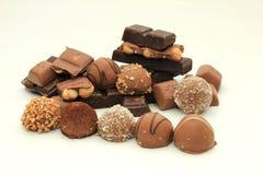 Verschillende soorten chocolade Royalty-vrije Stock Afbeeldingen