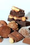Verschillende soorten chocolade Royalty-vrije Stock Fotografie