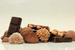 Verschillende soorten chocolade Stock Fotografie