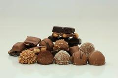 Verschillende soorten chocolade Stock Afbeelding