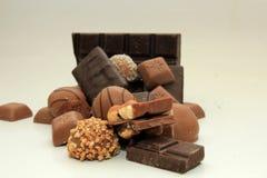 Verschillende soorten chocolade Stock Foto