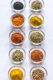 Verschillende soorten kruiden en kruiden Royalty-vrije Stock Afbeeldingen