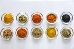 Verschillende soorten kruiden en kruiden Stock Fotografie