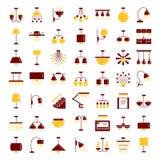 Verschillende soorten muur, plafond, lijst en staande lampen modern vector illustratie
