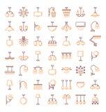 Verschillende soorten muur, plafond, lijst en staande lampen modern royalty-vrije illustratie