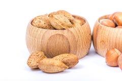 Verschillende soorten noten Stock Afbeeldingen