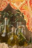 Verschillende soorten olijfolie Stock Afbeelding