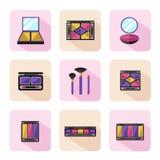 Verschillende soorten schaduwpallette Stock Afbeelding